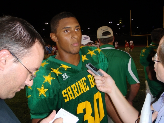 Davis Plays for Both LHS Coaches at Shrine Bowl