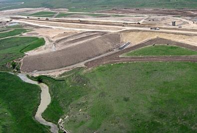 Horse Thief Resevoir Dam Complete