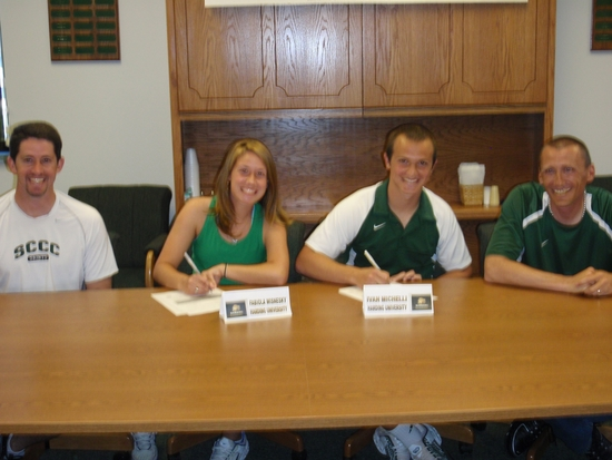 Two Saints Tennis Players Sign at Harding