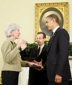 Sebelius Sworn in as new HHS Secretary; Parkinson Sworn in as new Governor