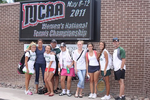 Lady Saints Finish in Top 13 at NJCAA Tournament