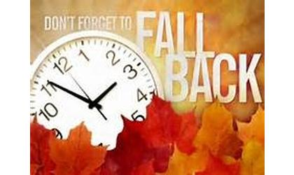 "Time Change This Weekend ""Fall Back"""