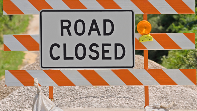 Street to be Closed for 2 Weeks
