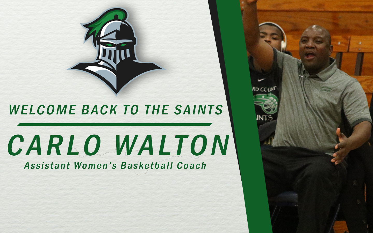 Hall of Famer Walton Named Lady Saint Assistant