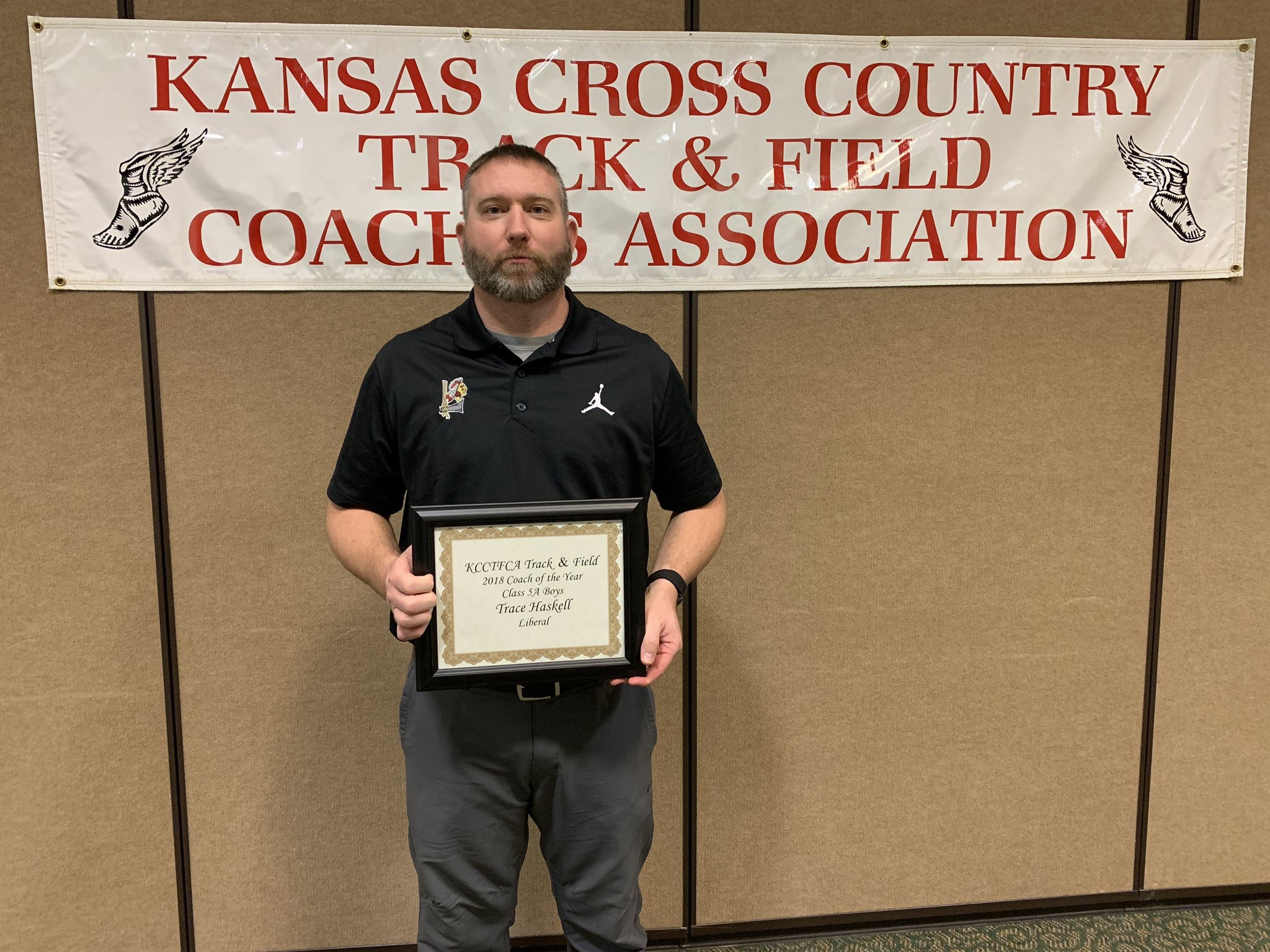Haskell Thanks Community After Being Named Kansas Coach of the Year
