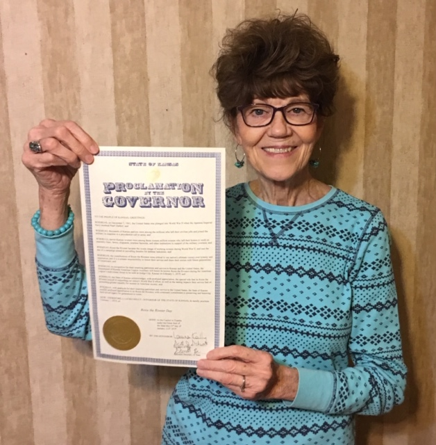 "Governor Honor ""Rosie's"" with Proclamation"