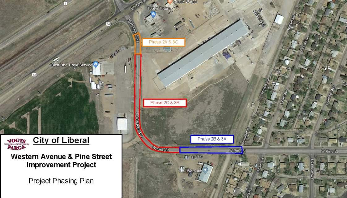 Road Construction at Hwy 54 and Western to Begin