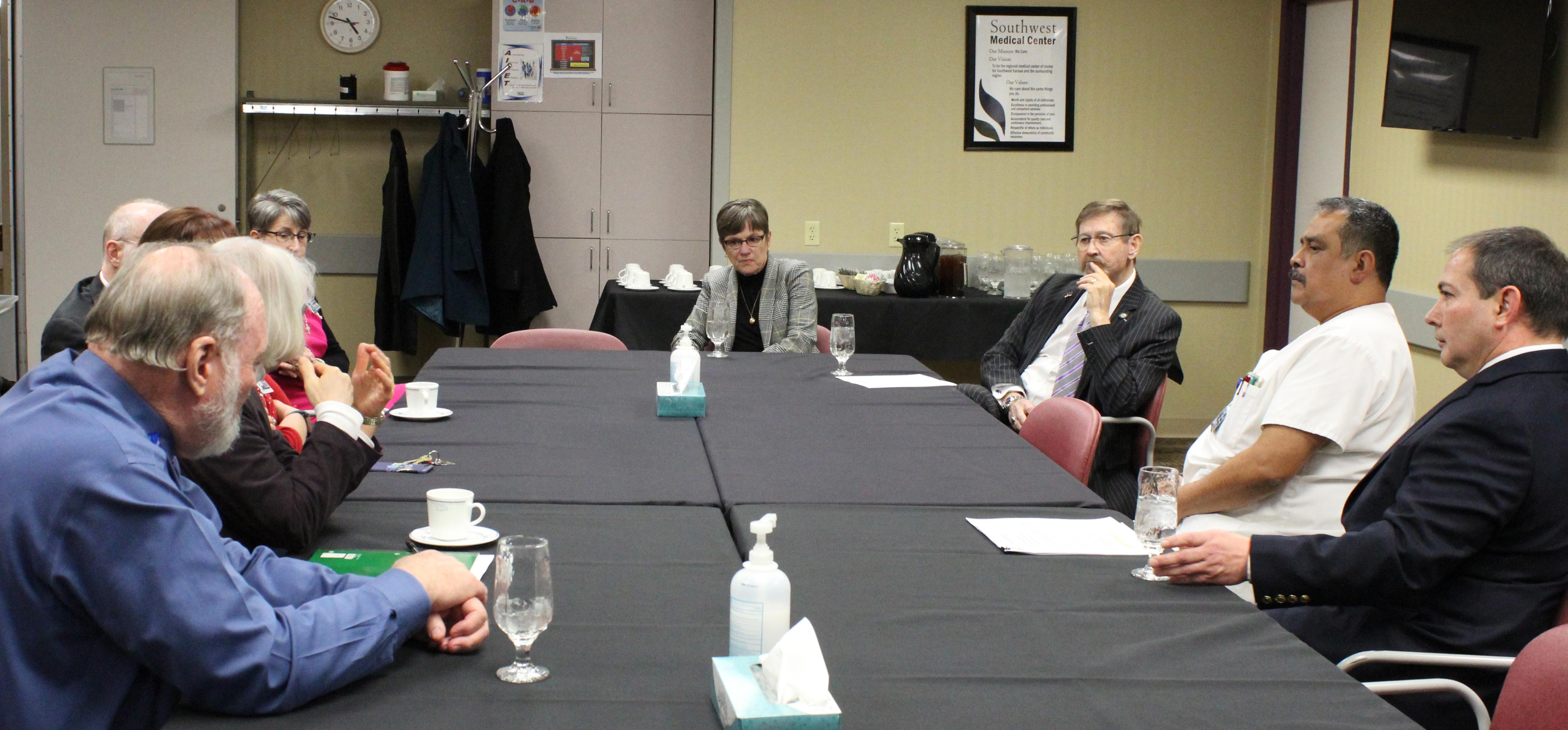 Gov. Kelly Visits Southwest Medical Center