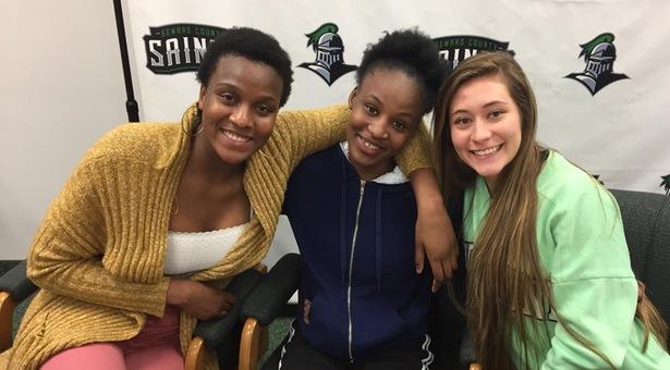 Three Lady Saints Basketball Players Sign