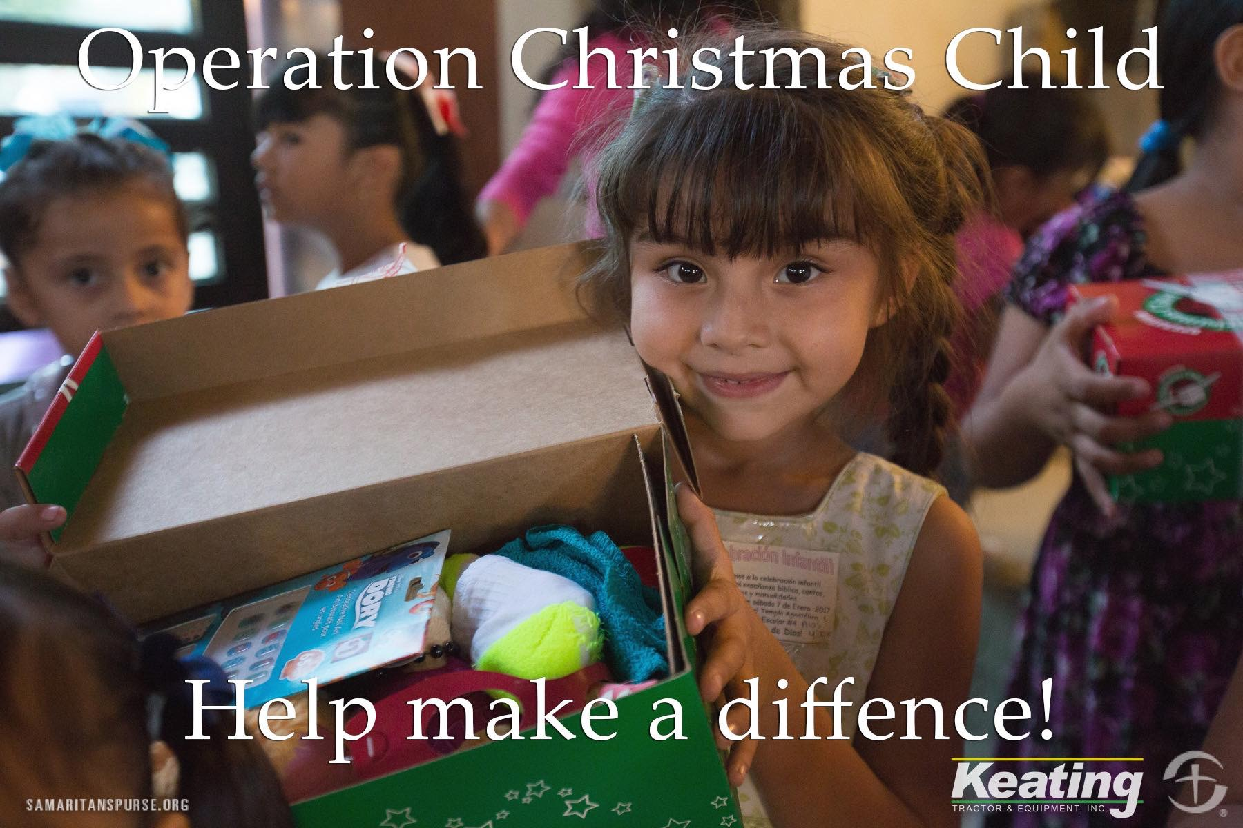 Keating Tractor, KSCB/The Legend,and Conestoga Partner for Operation Christmas Child