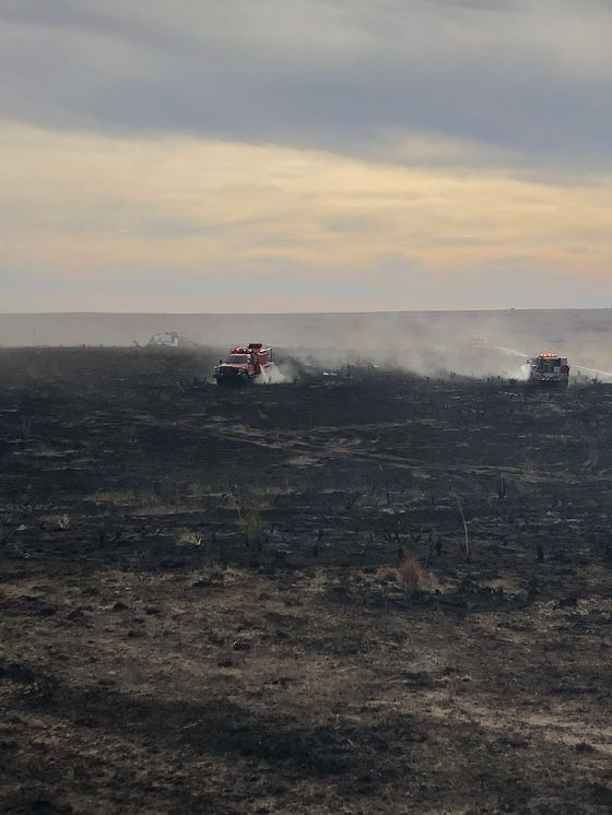 Multiple Grass Fires and Motel Fire Keep Guymon Firefighters Busy Over Weekend