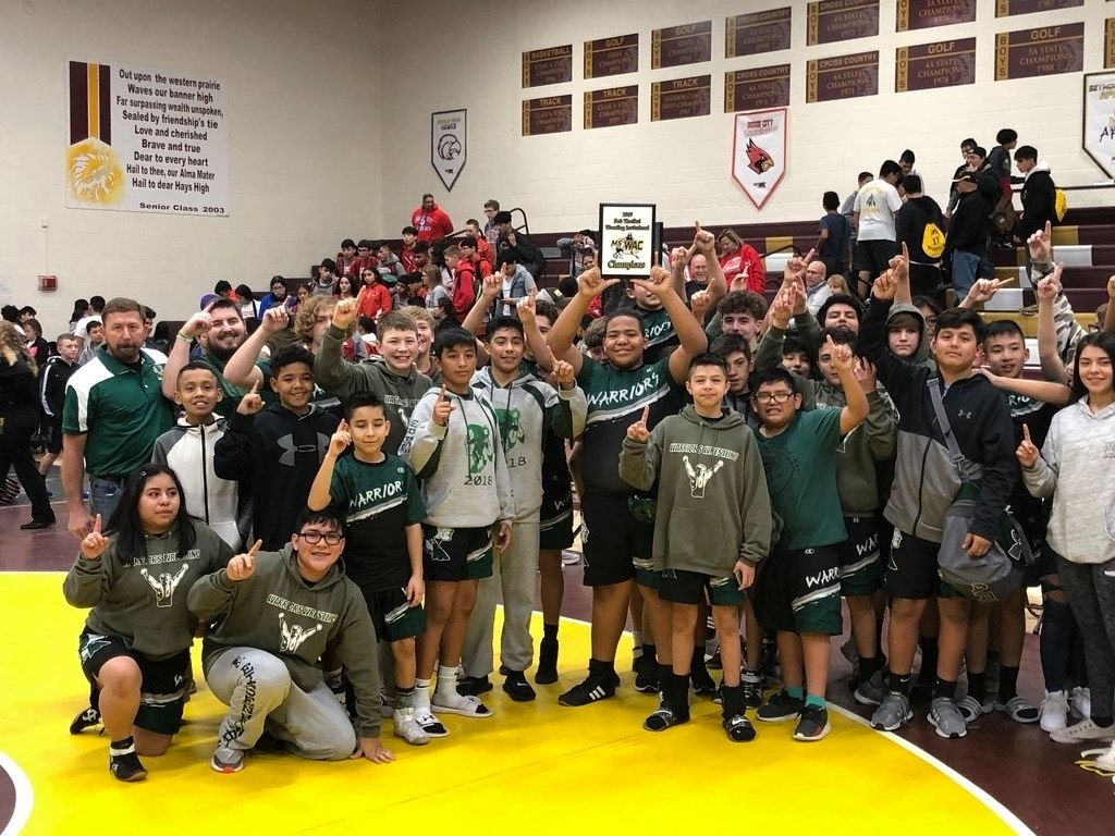 Middle School Results: Eisenhower Wins WAC Wrestling Title