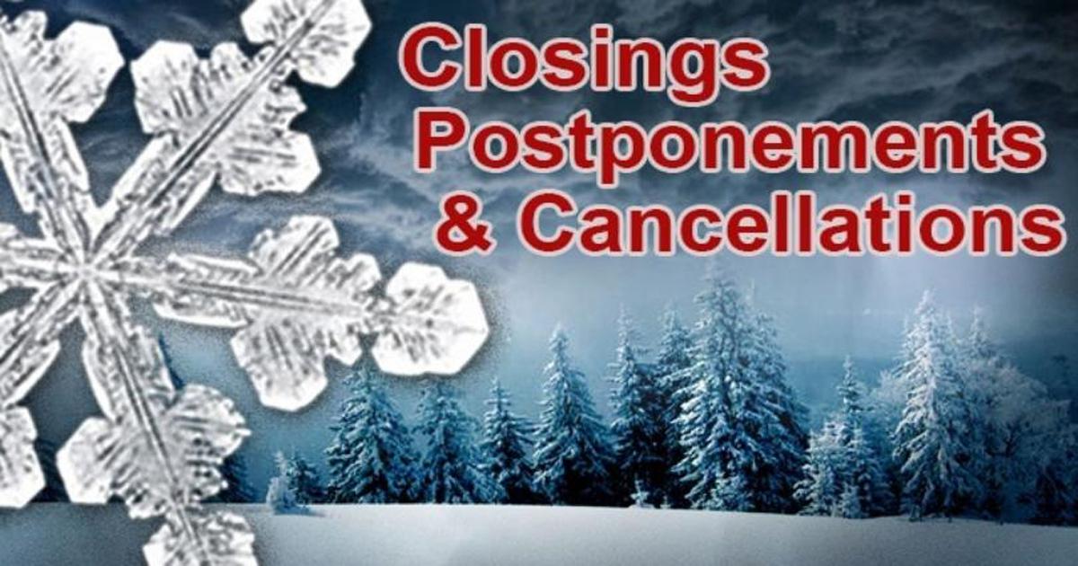 Closings, Cancellations, Postponements for Jan. 28, 2020