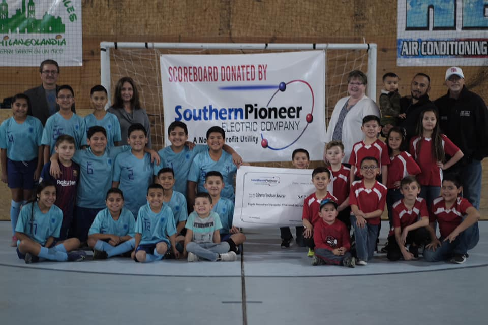 Southern Pioneer Electric Awards $875 H.U.G.S. Grant to Liberal Indoor Soccer League