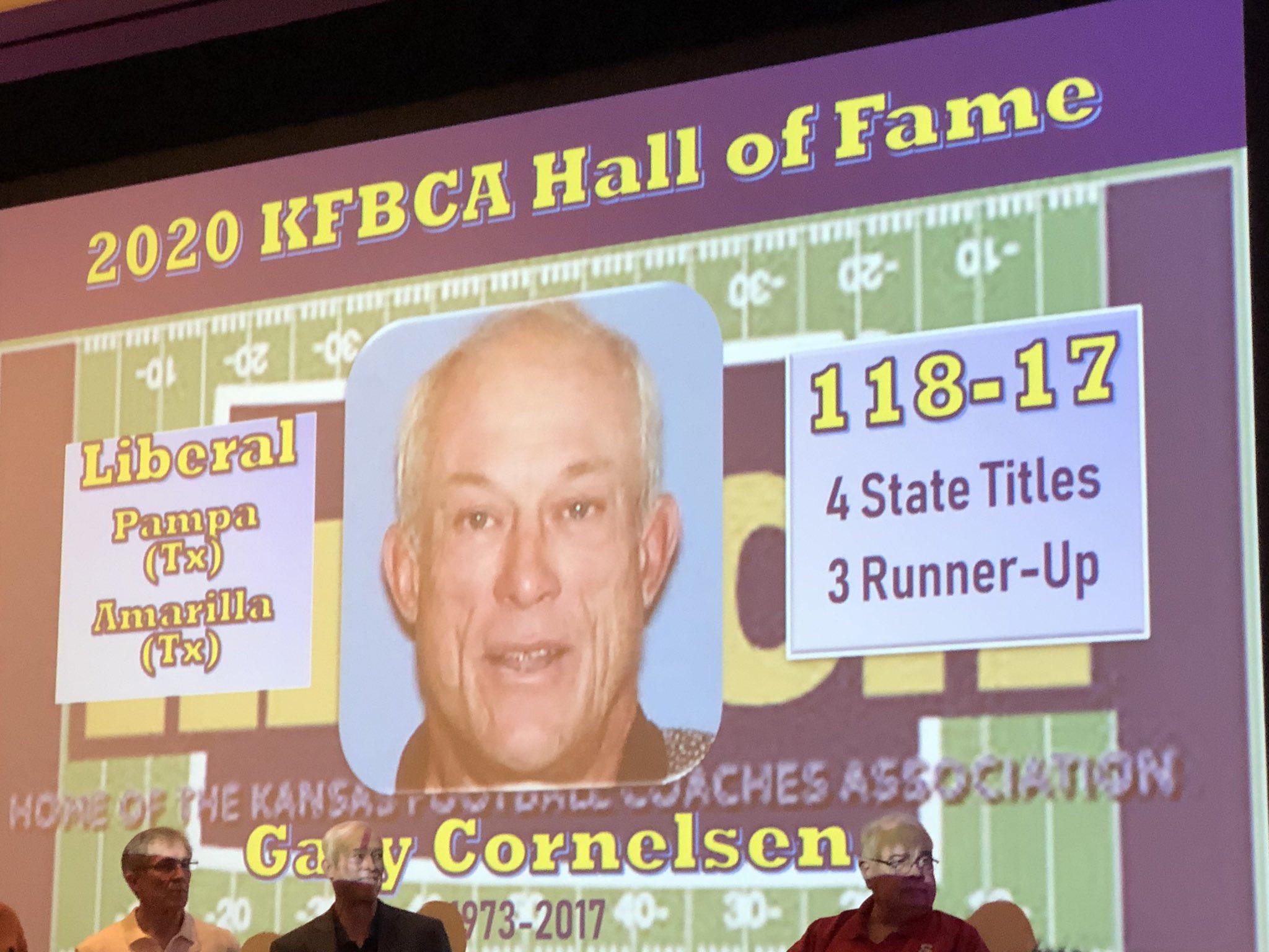 Cornelsen Part of KFBCA's First Hall of Fame Class