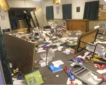Vandals Make Mess of Scout Building in Ulysses