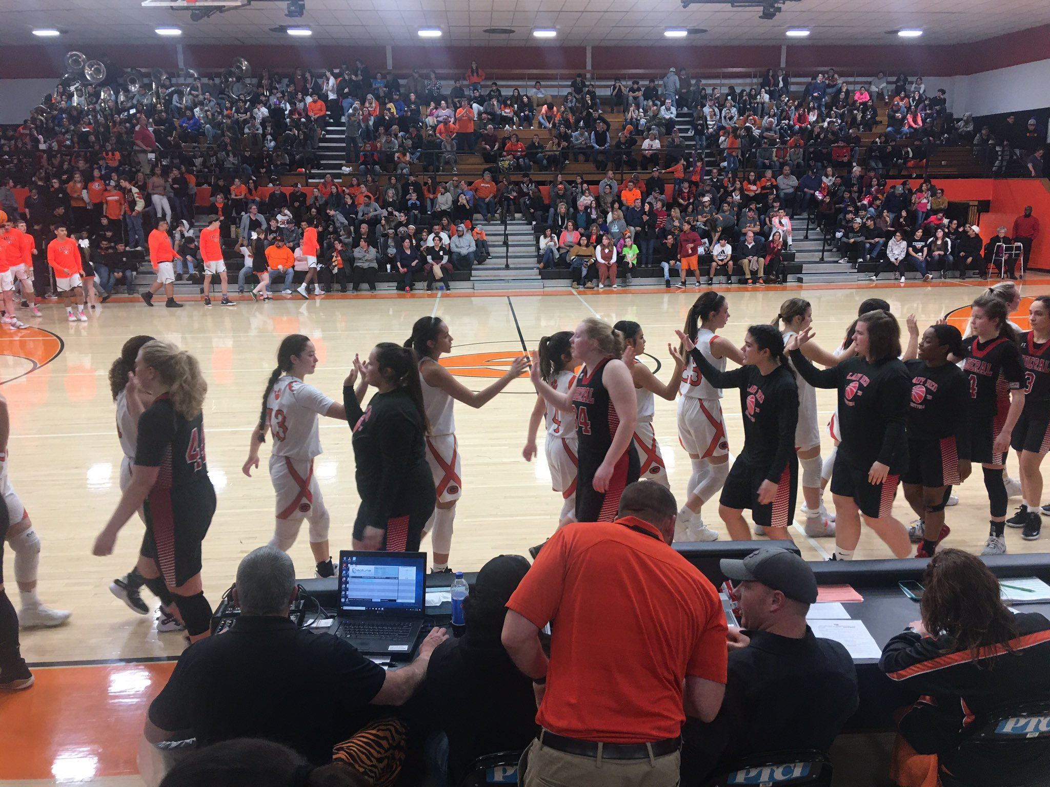 Lady Red Goes to the Glass in Guymon