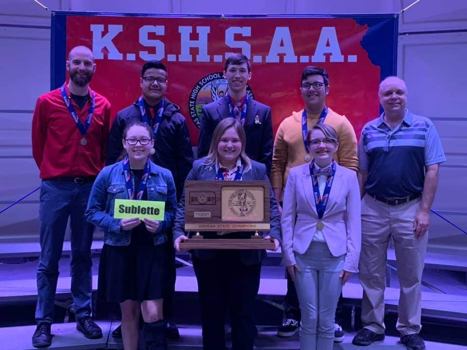 Sublette Larks 2A Scholars Bowl State Champs