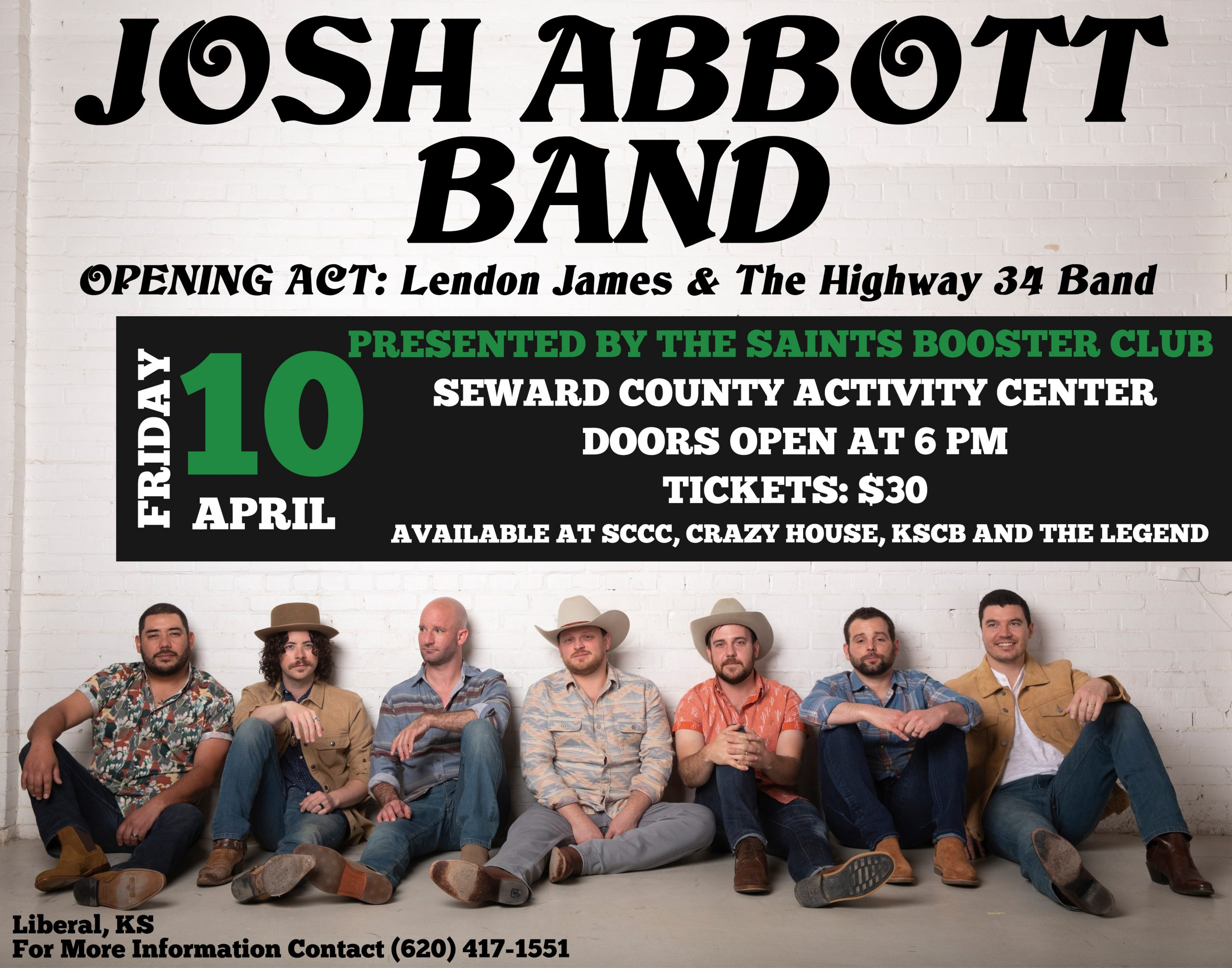 Josh Abbott Band Coming to Liberal