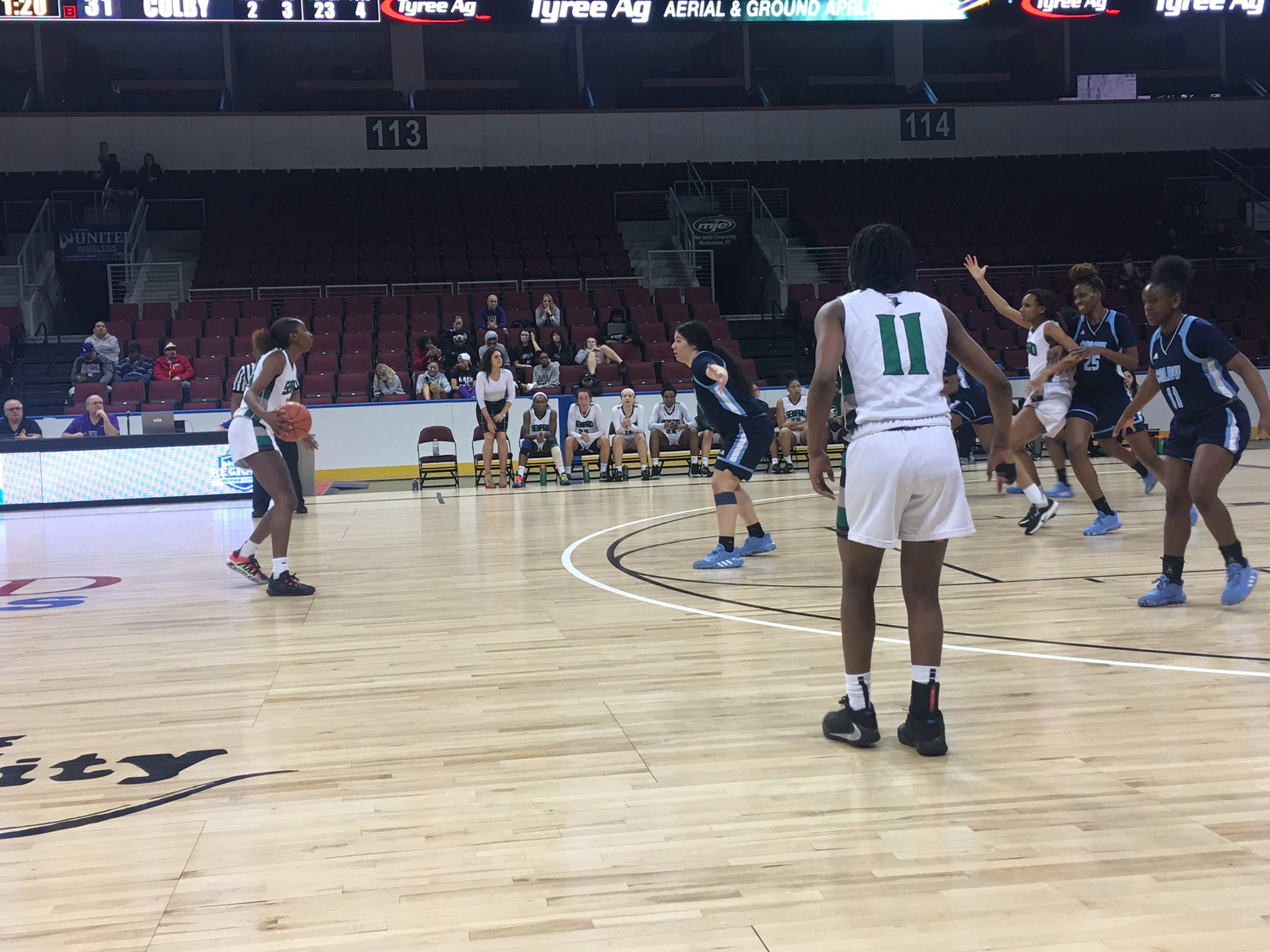 Lady Saints Stifle Colby for 6th Straight Quarterfinal Win