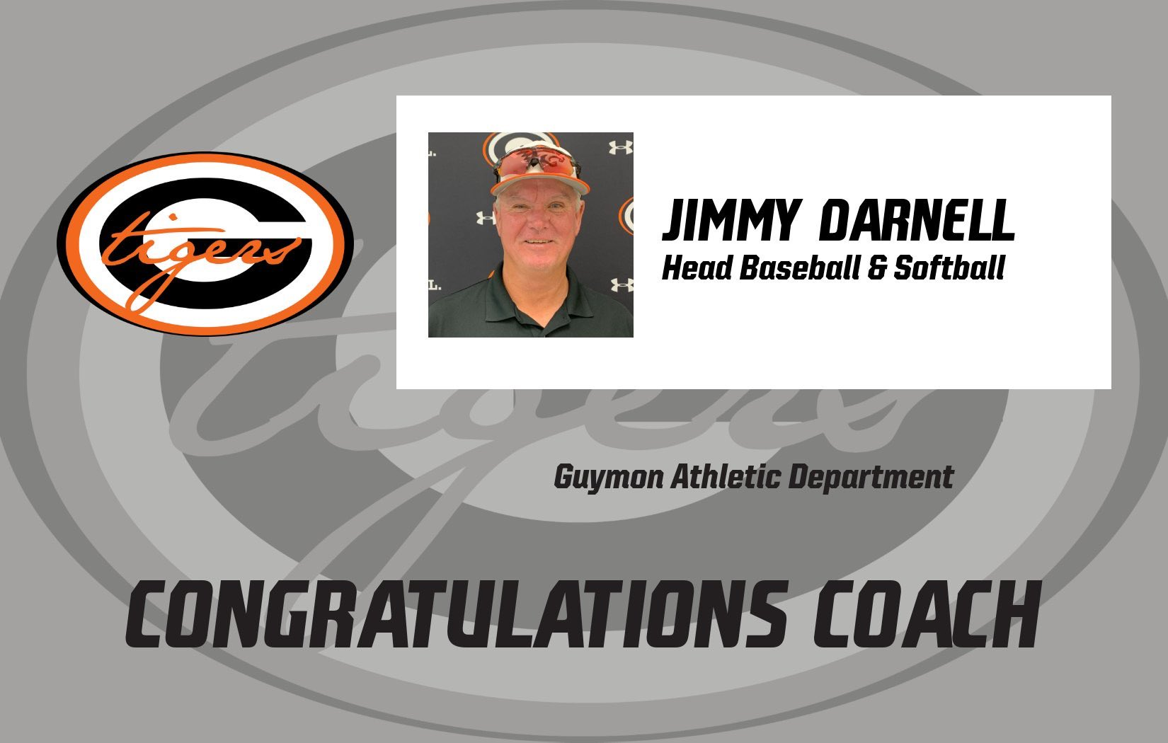 Darnell to Coach Guymon Baseball and Softball