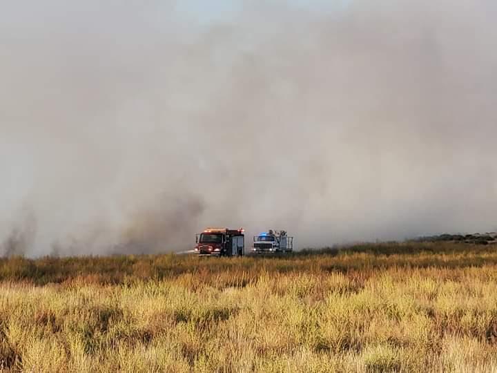 Seward County Fire Battle Fire, High Winds