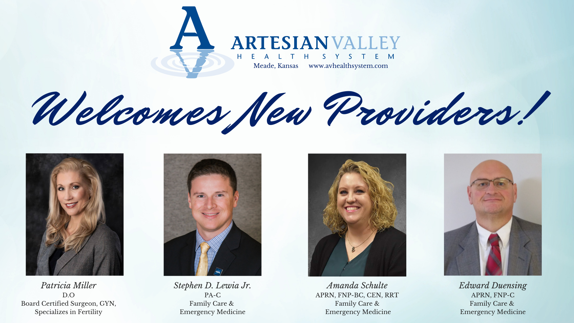 Artesian Valley Health System Welcomes New Providers