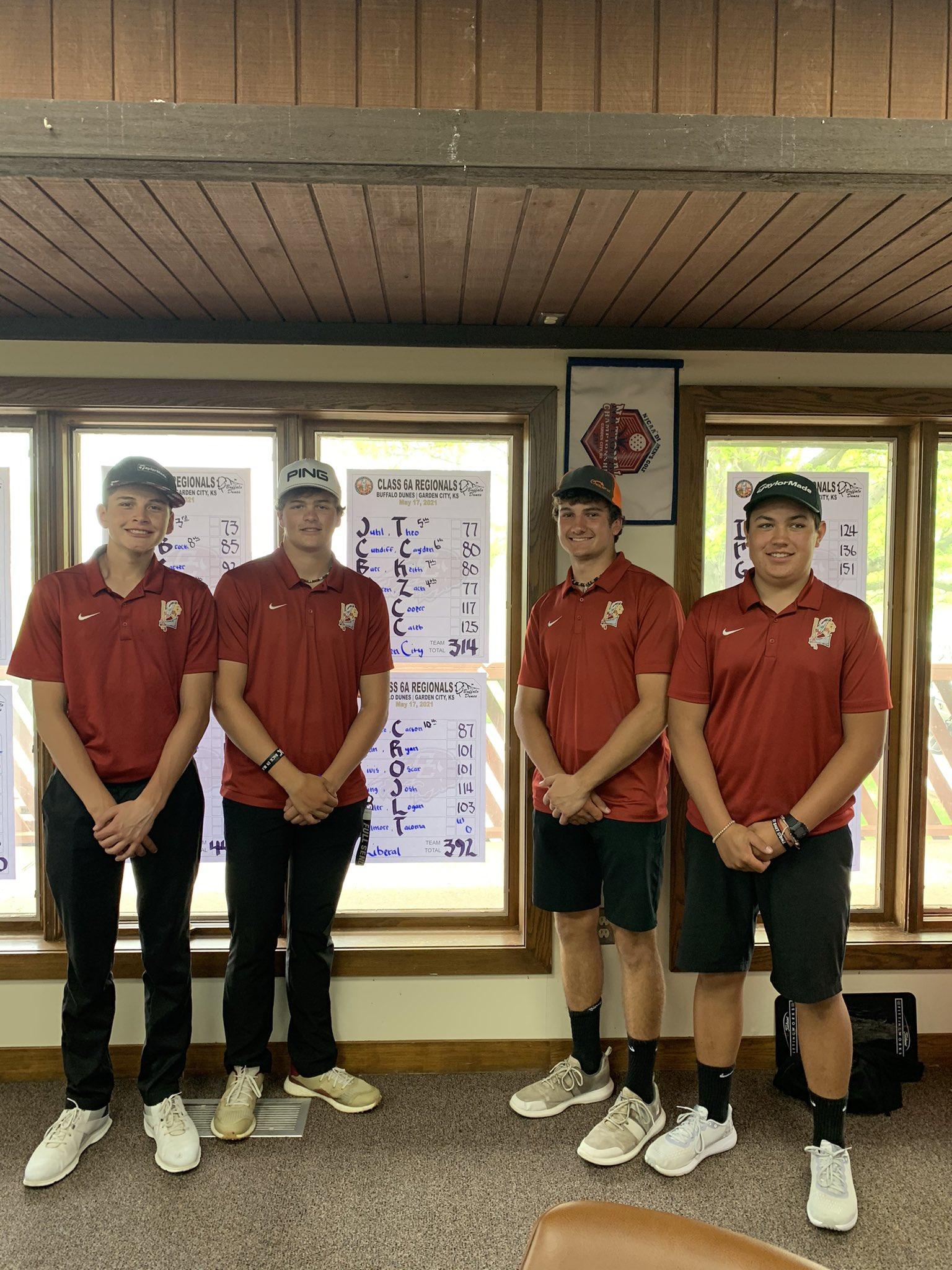 Four Redskin Golfers Qualify for State