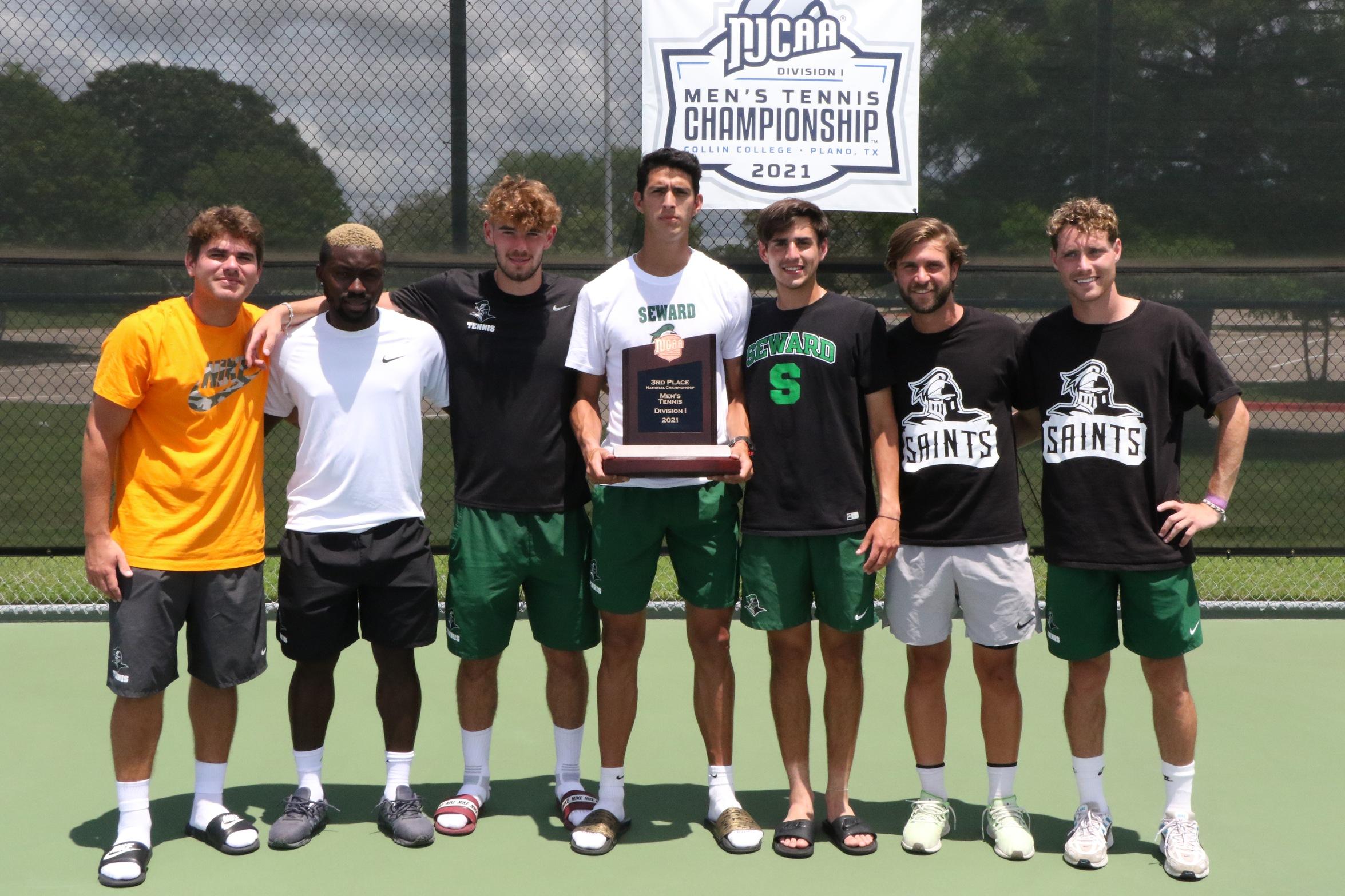 Saints Tennis Takes 3rd at NJCAA Tournament