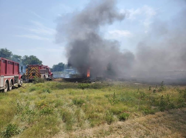 Homes Threatened by Seward County Grass Fire