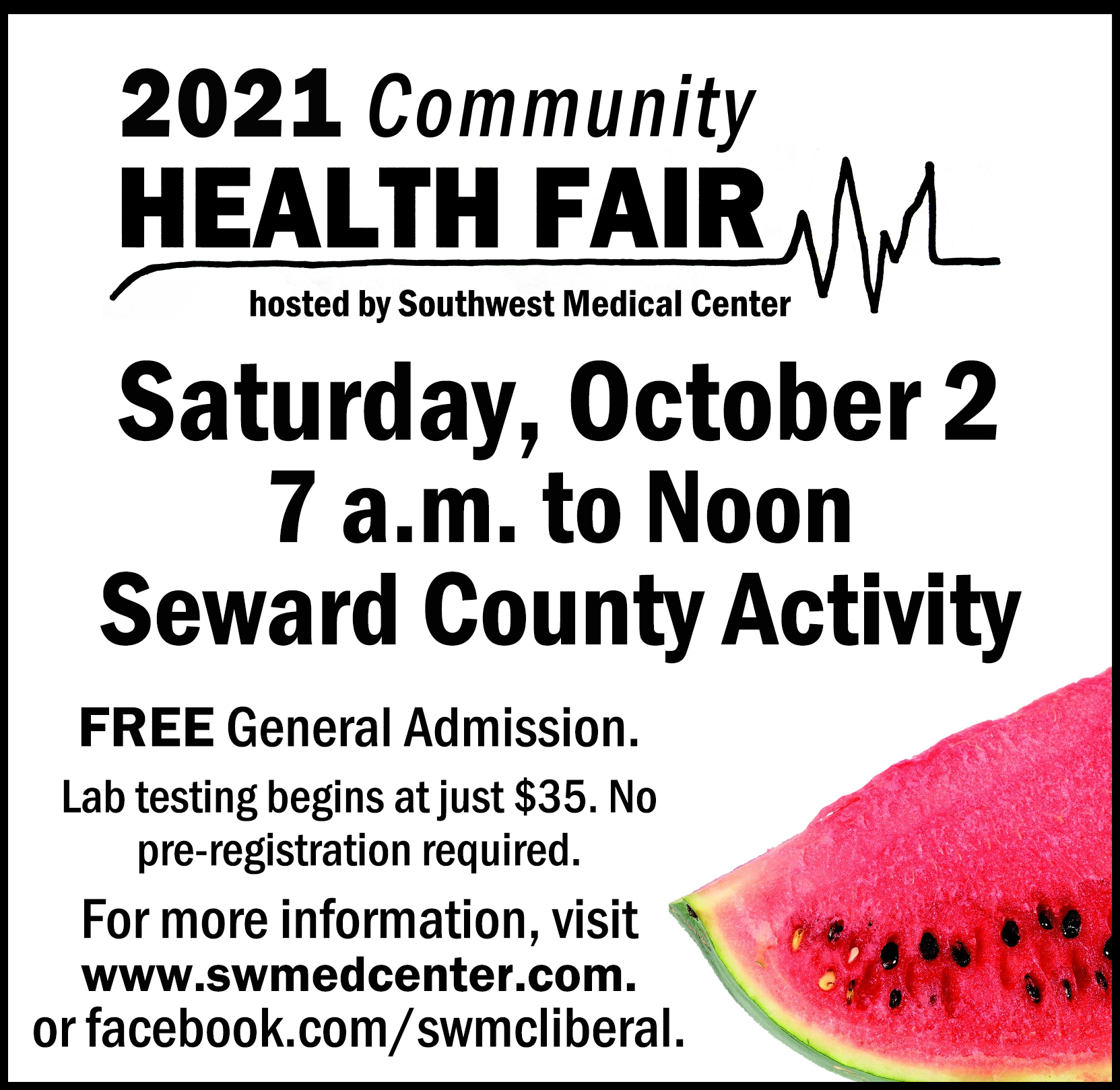 12th Annual Community Health Fair on Oct. 2