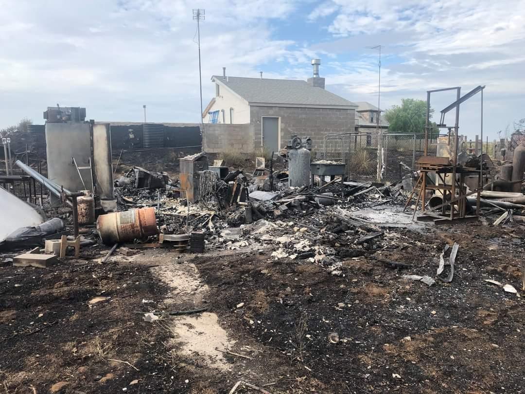 Seward County Fire Work Highway 83 Fires